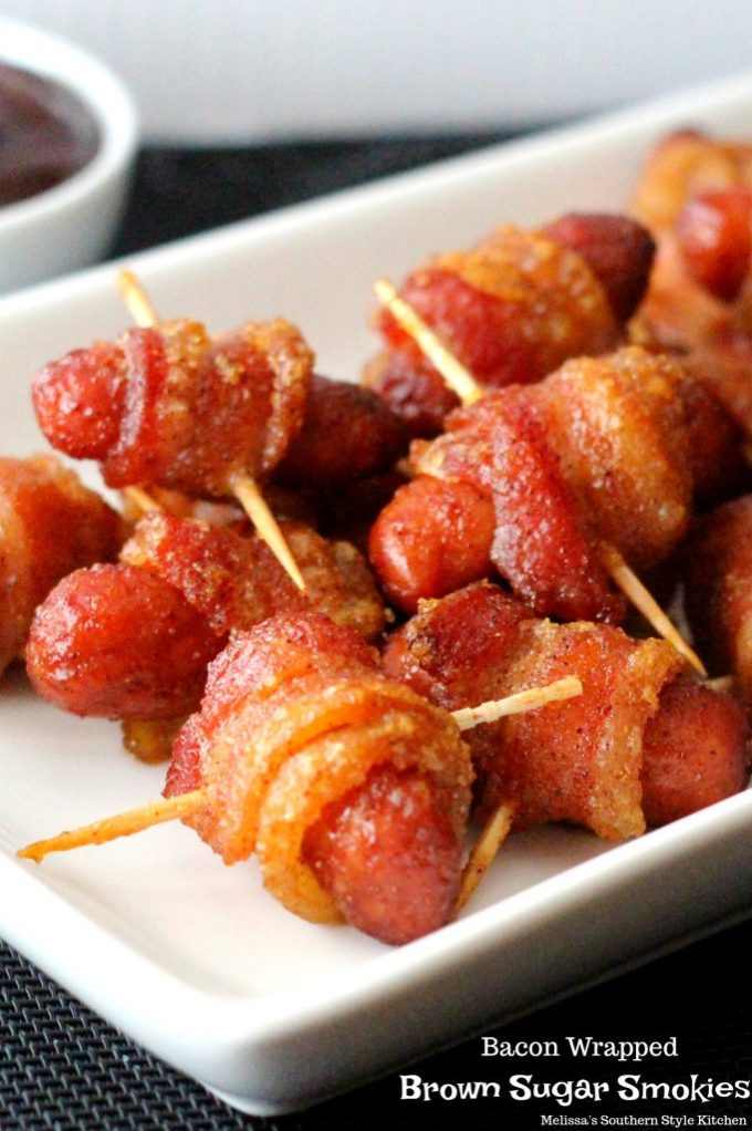 Bacon Wrapped Brown Sugar Smokies