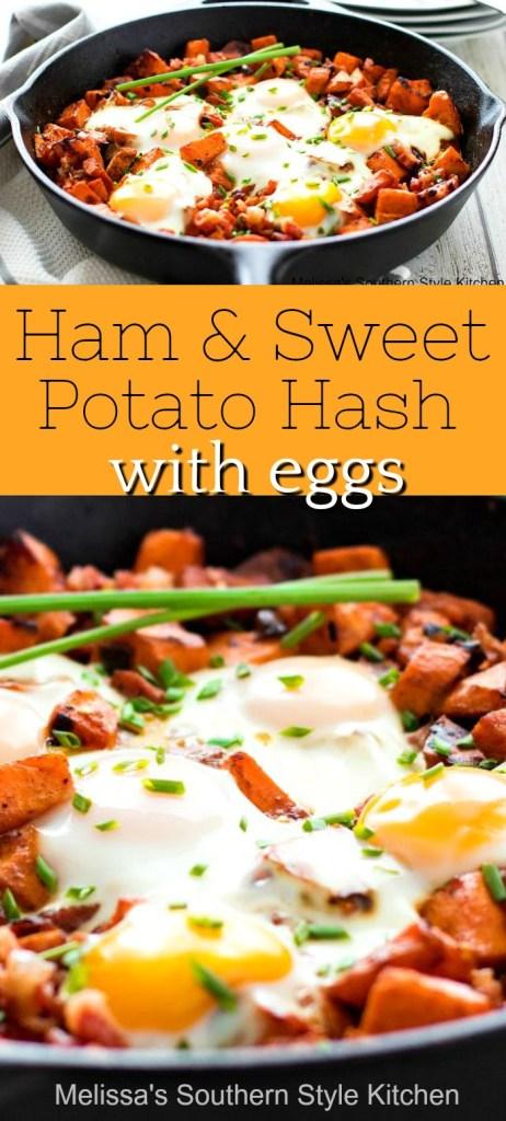 Ham and Sweet Potato Hash with Eggs