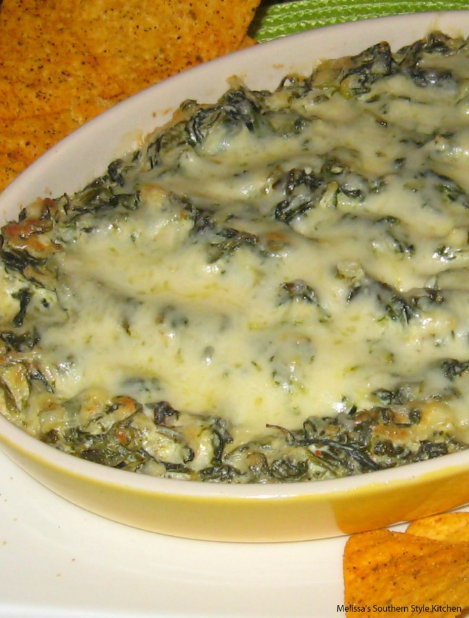 baked spinach and cheese in a dish