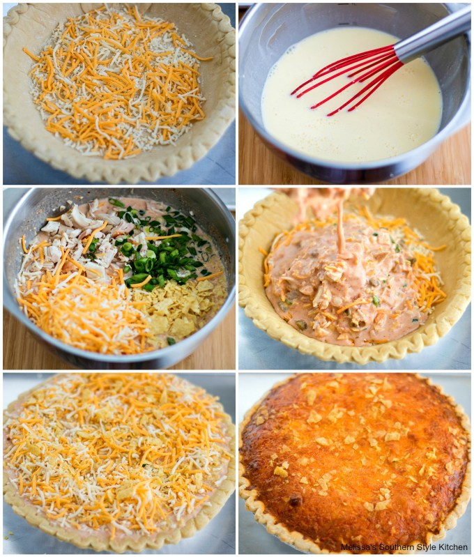 step by step pictures of quiche preparation
