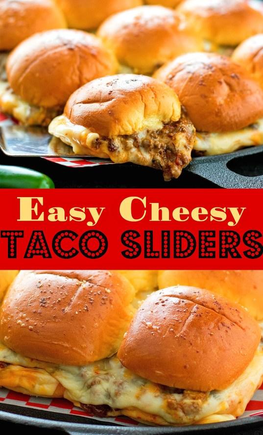 Easy Cheesy Taco Sliders