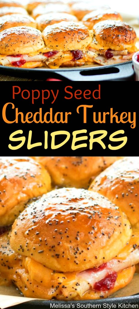 Poppy Seed Cheddar Turkey Sliders
