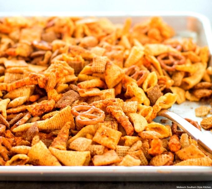 Party Snack Mix - melissassouthernstylekitchen com
