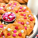 White Chocolate Chip M&M Valentine's Day Cookies