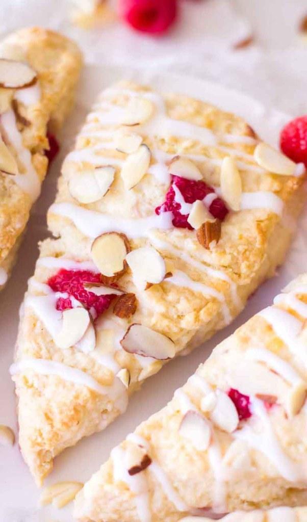 Raspberry Almond Cream Scones