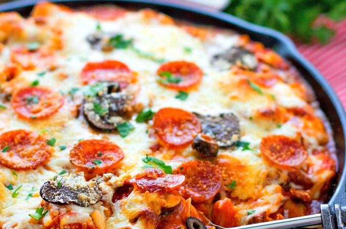 Supreme Pizza Tortellini Bake