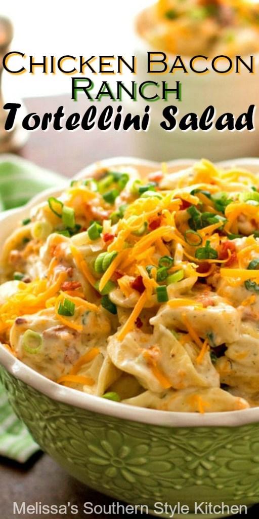 Cheddar Bacon Ranch Tortellini Salad