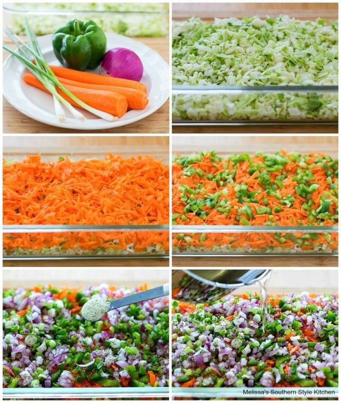 step-by-step pictures how to prepare cole slaw