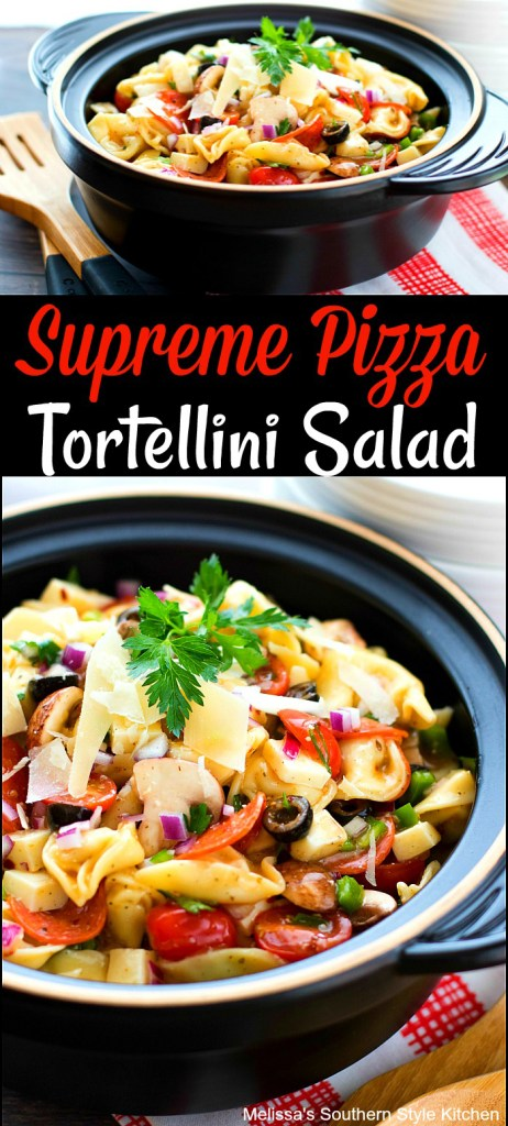 Supreme Pizza Tortellini Salad