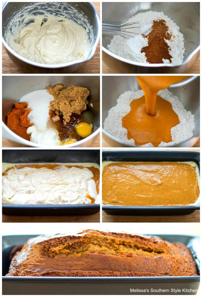 ingredients and step-by-step images to prepare pumpkin bread