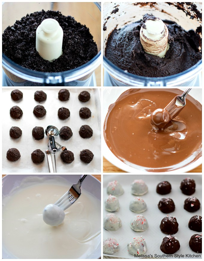 step-by-step images how to prepare truffles with melted chocolate in a bowl