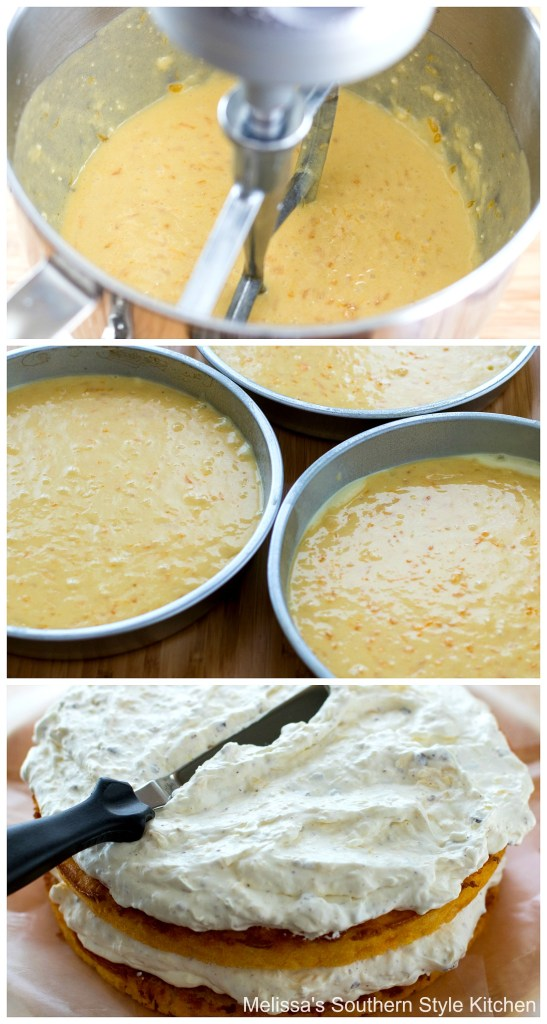 step-by-step preparation images and ingredients for mandarin orange Pig Pickin' Cake