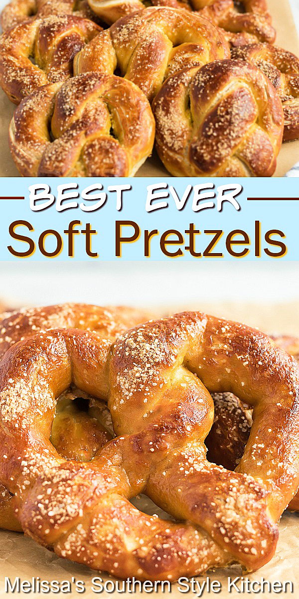 The snack fans in your life will flip for these homemade soft pretzels #pretzels #softpretzels #pretzelrecipes #snacks #appetizerrecipes #bread #southernfood #southernrecipes #holidayrecipes