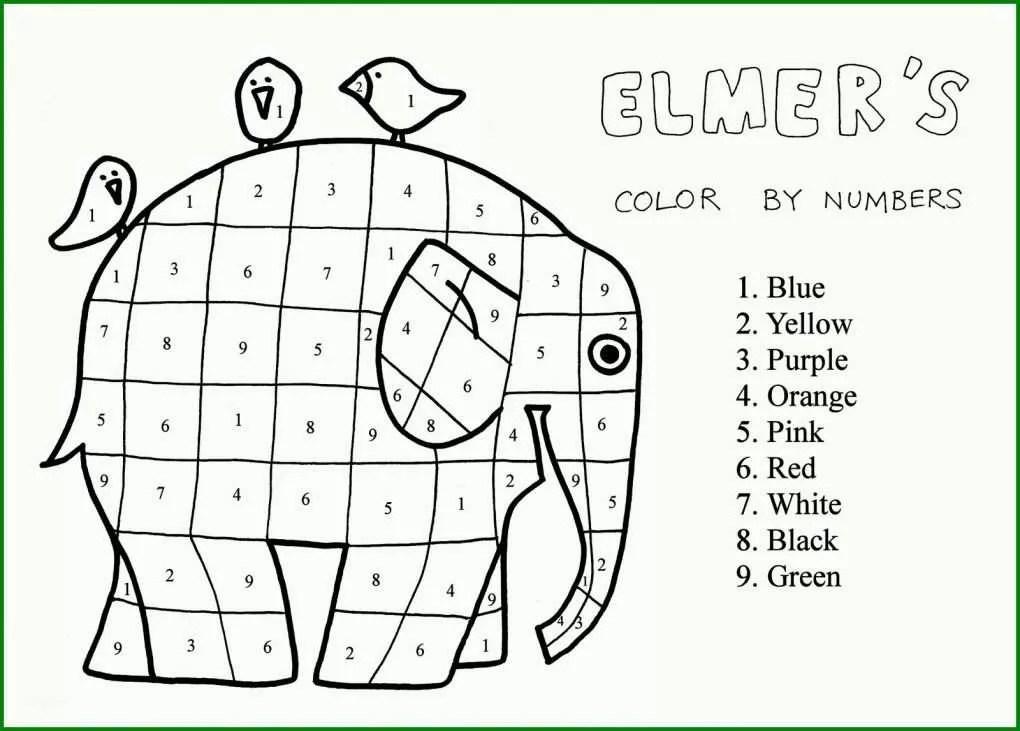 Faszinierend Malvorlage Elmar Elefant 311676