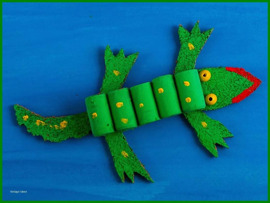 Krokodil Malvorlage Basteln