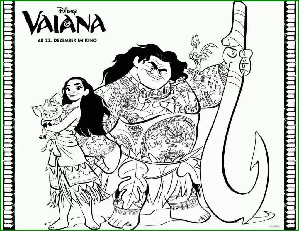 Am Beliebtesten Ausmalbild Vaiana Malvorlage Vaiana Und