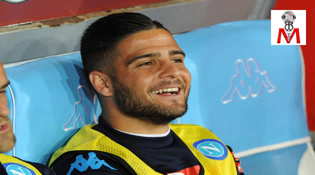 Napoli vs Bologna - Insigne in panchina
