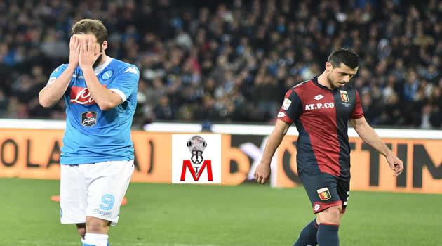 Napoli vs Genoa - Higuain e Dzemaili
