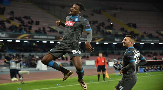 Napoli vs Legia Varsavia Chalobah esulta al gol