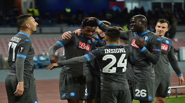 Napoli vs Legia Varsavia si esulta al gol di Chalobah