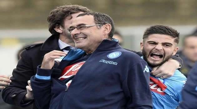 Verona vs Napoli gol Insigne esulta