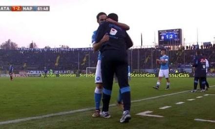 UN BRUTTO NAPOLI BATTE L'ATALANTA, A BERGAMO FINISCE 1-3