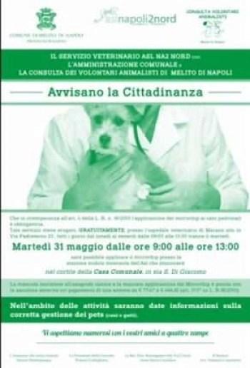 microchip di riconoscimento ai cani padronali - locandina