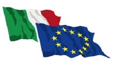 bandiera Italia e Europa