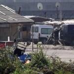 Napoli, cronaca Blitz al campo Rom di Scampia