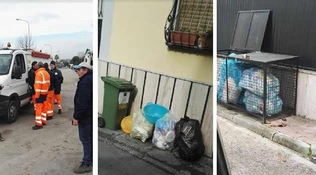Sant'Antimo, rifiuti in strada per lo stato di agitazione dei dipendenti