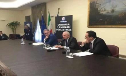 Piano strade per la Campania, protocollo Regione-Anas