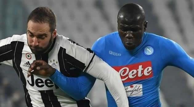 Juve vs Napoli - Higuain Koulibaly