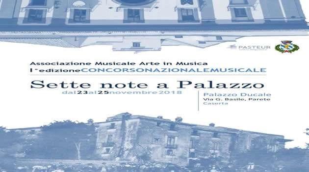 "Parete, al via la kermesse musicale ""Sette note a palazzo"""