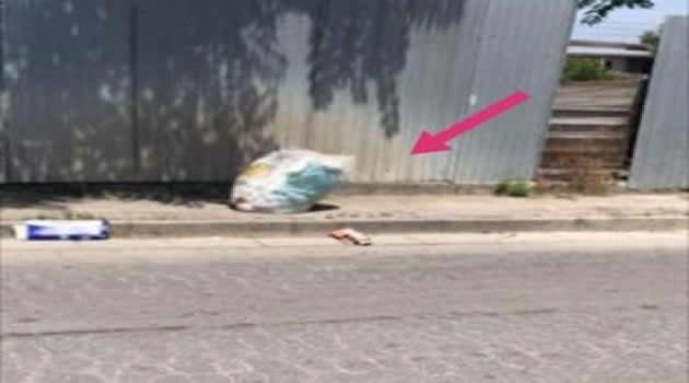 Sant'Antimo - lancio sacchetto spazzatura