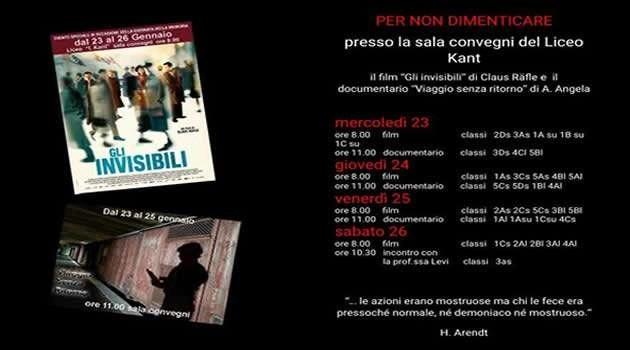Melito - Liceo Kant - i giorni della memoria