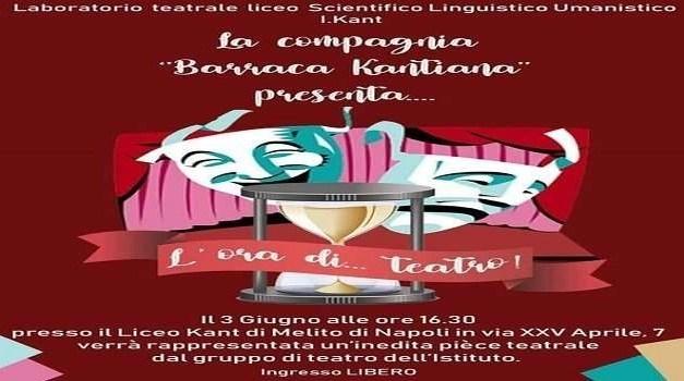 """Melito, la """"Barraca Kantiana"""" va in scena con """"L'ora di … teatro"""""""