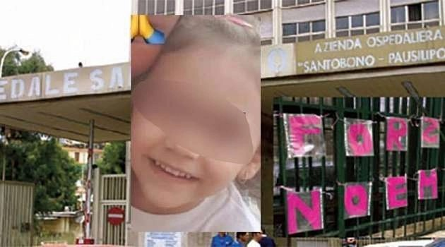 Napoli, la piccola Noemi dopo i miglioramenti viene trasferita in reparto