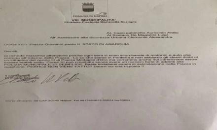 Scampia. Il Consigliere Claudio Di Pietro contro lo stato di anarchia di Piazza Giovanni Paolo II
