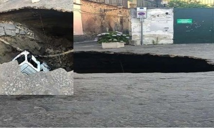 Napoli: si apre una voragine in via Cassano