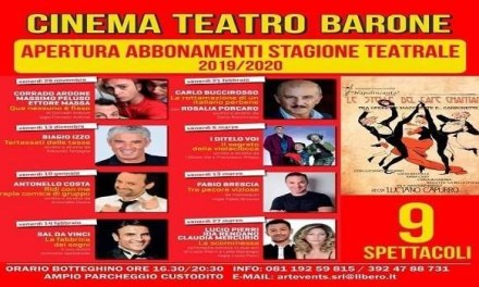 Quarta stagione teatrale al Cinema Teatro Barone