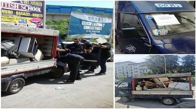 """Frattamaggiore, trasporto """"abusivo"""" rifiuti, bloccato dalla polizia locale uno """"svuota cantine"""""""