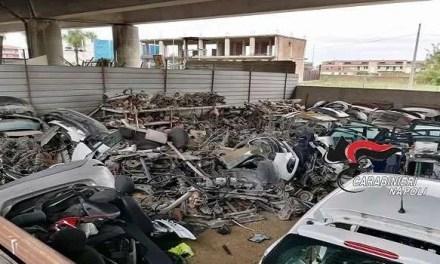 Sequestrato un deposito di pezzi di ricambi di auto rubate in un'area sotto l'Asse Mediano