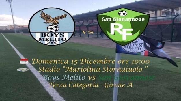 Boys Melito vs San Giovannese. La quinta giornata di campionato