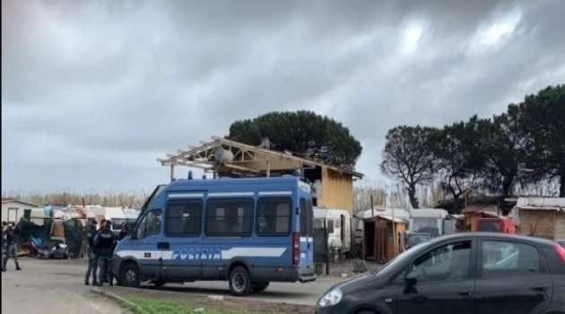 Blitz al campo rom. Motivi non chiariti
