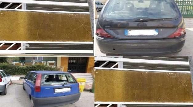 Atti vandalici durante la notte: auto sfasciate e vetri in frantumi