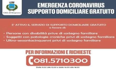 Emergenza Coronavirus, l'amministrazione Sarnataro attiva il supporto domiciliare gratuito insieme alla Croce Rossa