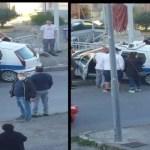 Grave incidente. Auto della Polizia Locale si ribalta in curva