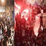Doppia vittoria per i tifosi napoletani: la curva non risale dopo i festeggiamento della Coppa Italia