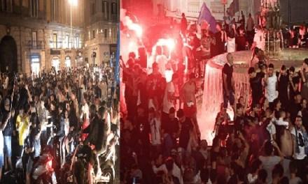 Il Napoli vince la Coppa Italia, il caos dei tifosi in strada