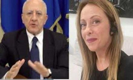 Giorgia Meloni contro Vincenzo De Luca: è scontro